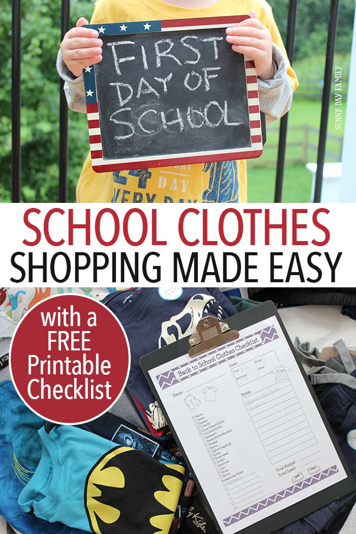 Back to school clothes shopping is easy with this free printable checklist! Get organized with everything your kids need for school clothes then head to Boscov's to find it all. Great selection, brands you love, and prices you can handle. It's the perfect one stop shop for all your back to school clothes needs!