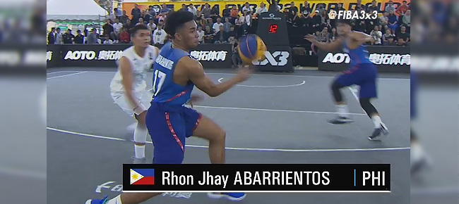RJ Abarrientos with the INSANE No-Look Pass Against Turkmenistan (VIDEO)