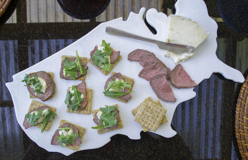 A perfect heavy appetizer, Steak + Brie TRISCUIT Crackers