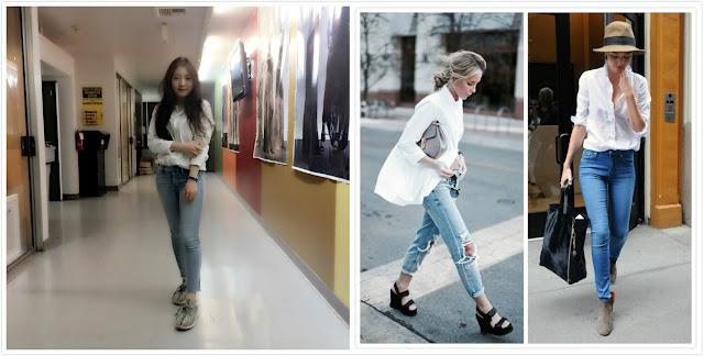 White shirt 1 and 2