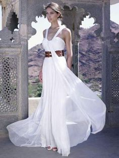 Goddess Wedding Dresses Beach