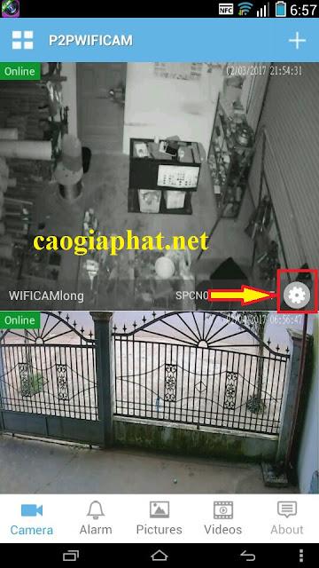Hướng dẫn thay đổi mật khẩu camera robot p2p