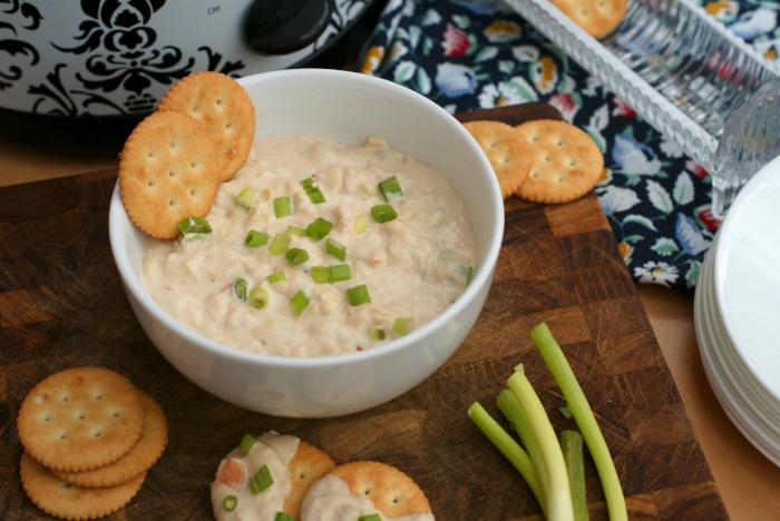 Cheesy Crock Pot Shrimp and Artichoke Dip | The Two Bite Club