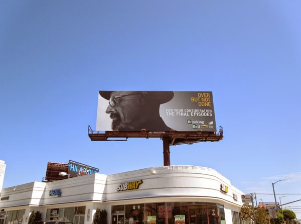 Breaking Bad Final Episodes 2014 Emmy billboard