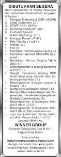 Lowongan Kerja PT. Winner Group