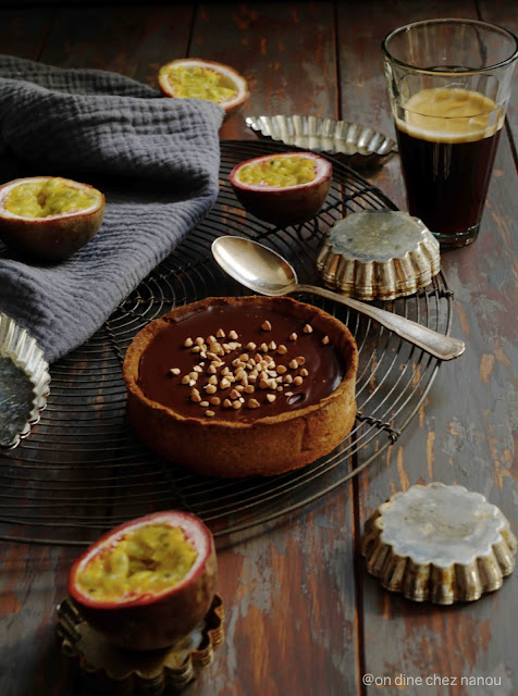 pâte farine de sarassin , ganache , 100% chocolat , dessert gourmand , kasha