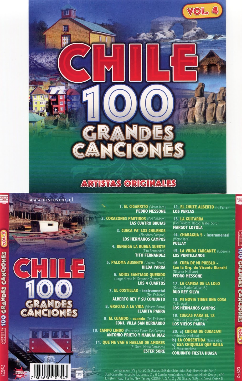 cd 100 grandes canciones de Chile Cd 4 Vol4
