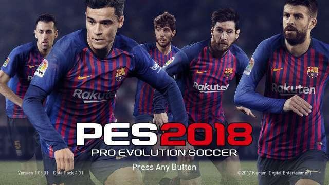 FC Barcelona 2018-2019 Start Screen PES 2018