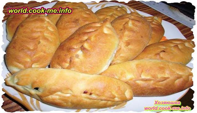 Пирожки с семгой приготовленные в духовке