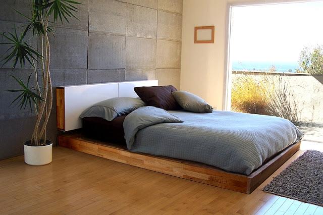 desain tempat tidur minimalis dari kayu