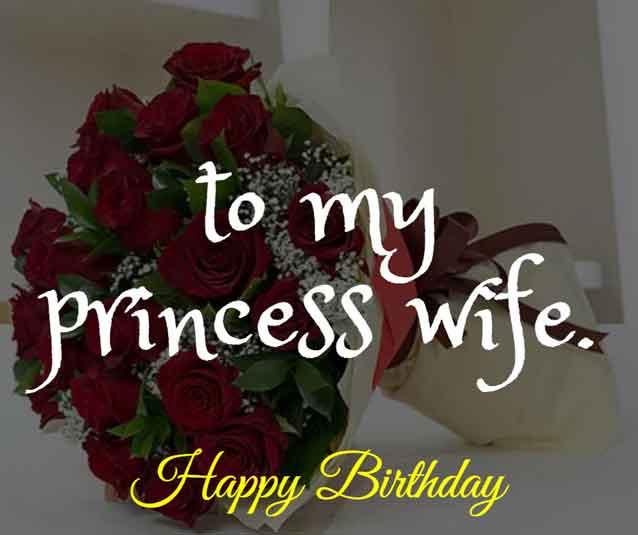 Happy birthday to my princess wife.