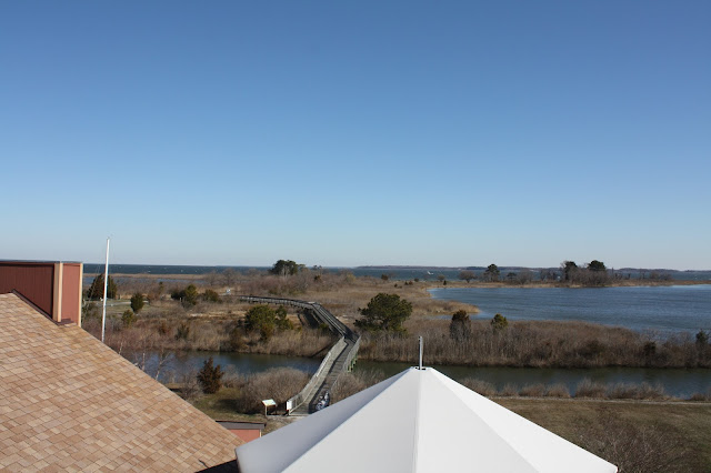 Water views from the top of a tower at Chesapeake Heritage and Visitor Center