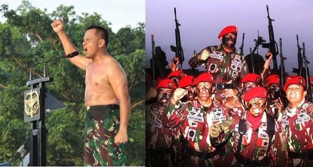 Kisah Hebat Jenderal Gatot Nurmantyo yang Nekad Ikut Latihan Kopassus Di Usia 55 Tahun
