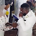 Comedian Ajebo gets emotional at his white wedding (Photos)