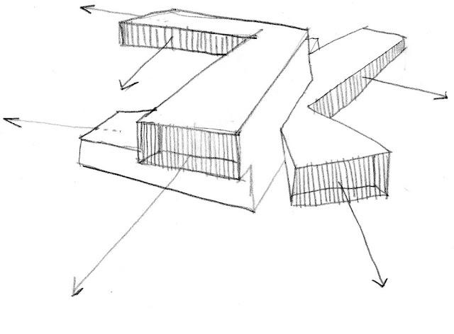 Sketch tay một công trình kiến trúc