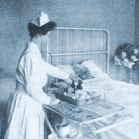Nurse at bedstead