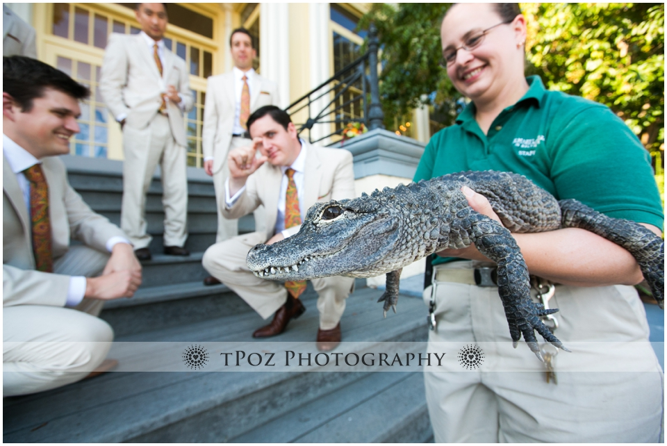 Wedding Reception Maryland Zoo Mansion House Baltimore Alligator