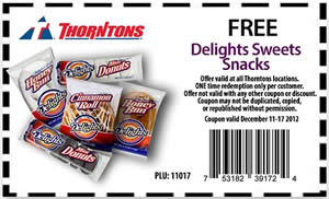 FREE Snacks at Thorntons