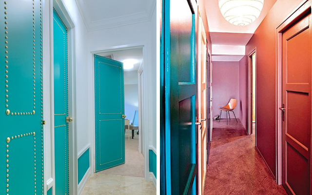 Marzua c mo decorar pasillos con las puertas - Colores pasillos interiores ...