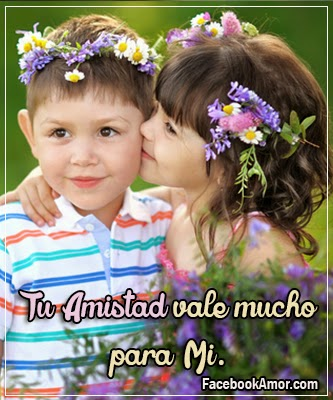 tierna imagen niños besandose