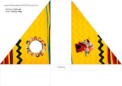 Para servilleteros para Fiesta de Charlie Brown y Snoopy.