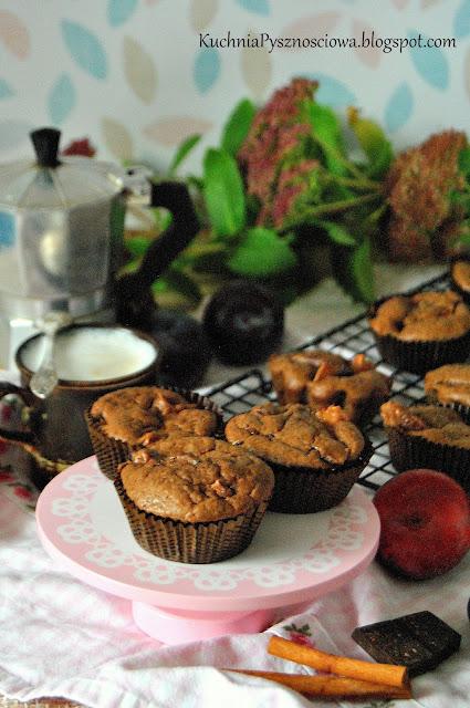 456. Muffiny ze śliwkami i czekoladą