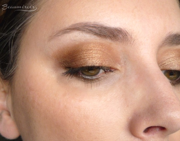 Wearing New Guerlain Coque d'Or Eyeshadow Palette: eye look fotd motd