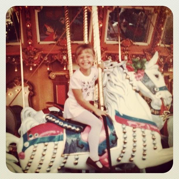 disneyland in the 80s, carousel horse