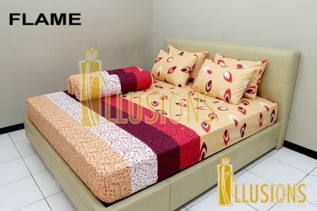 sprei illusions motif flame