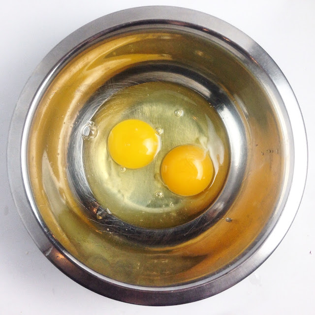 Bowl of Eggs for Cake Batter
