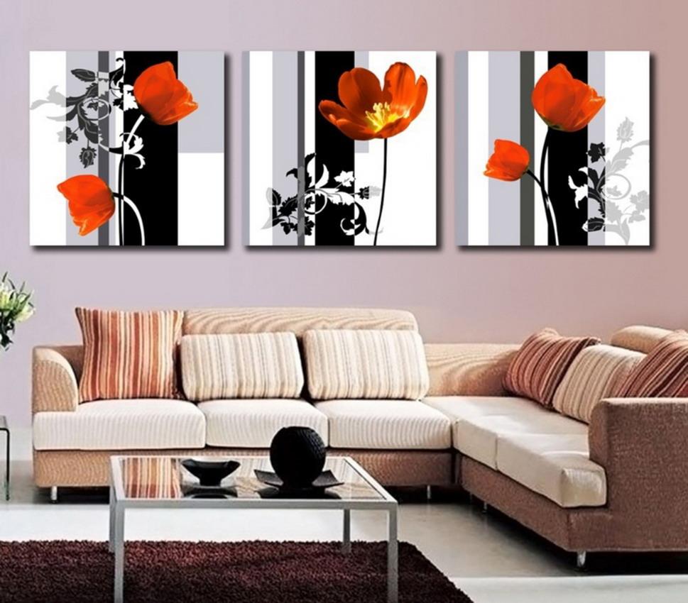 im genes arte pinturas pinturas de flores al leo modernos On cuadros modernos para salon comedor
