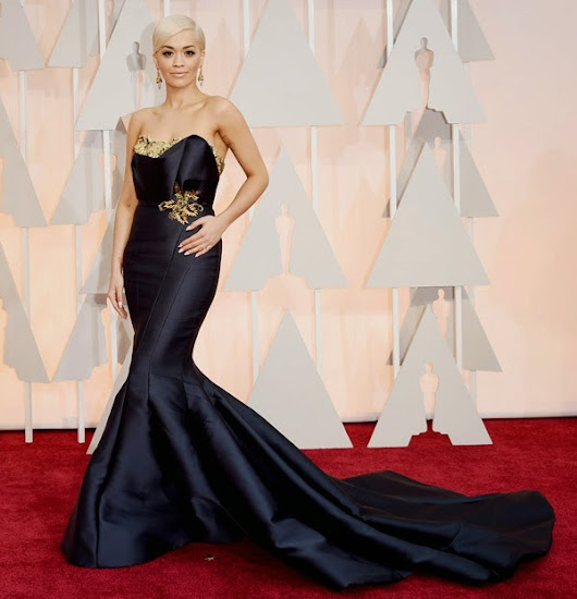 2015 Academy Awards Arrivals: Rita Ora in Marchesa