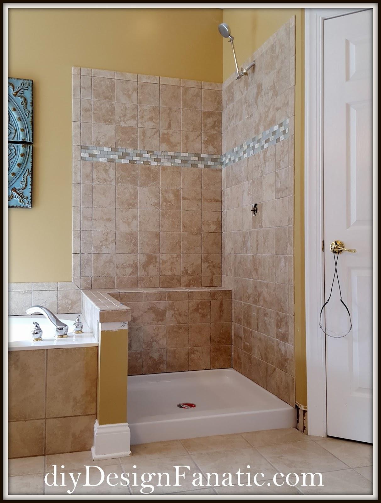 diy Design Fanatic: Updated Master Bath Shower Reveal