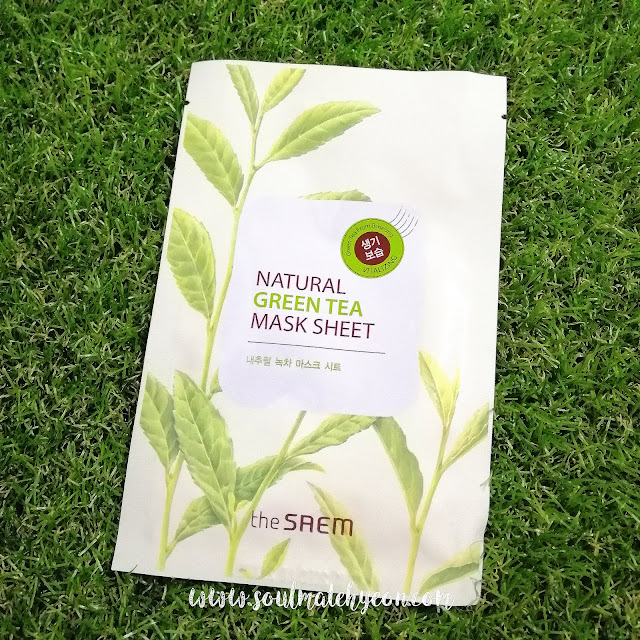 Review; The Saem's Natural Green Tea Mask Sheet + First Impression