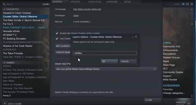 CS GO, Increase FPS, Activate New Command, D3D9EX