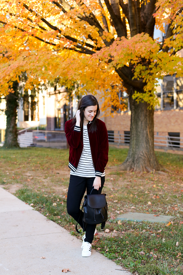 Naturally Me, Romwe Bomber Jacket, Bomber Jacket, Burgundy for Fall, Fall Outfit Idea, How to Wear a Bomber Jacket for Fall