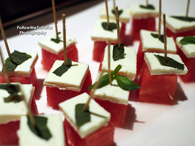 Feta Cheese, Basil & Watermelon Lollipops