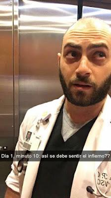 doctor queda atrapado en un elevador