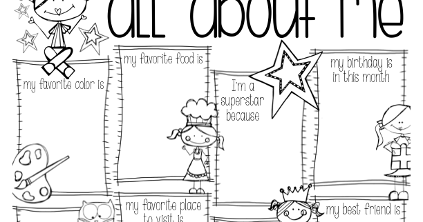 Kearson's Classroom: Back to School... All About Me