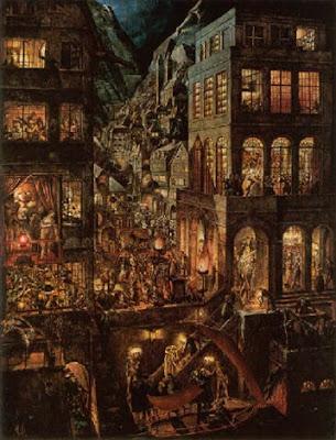 die stadt-tableau de wilhelm heise-peintre allemand