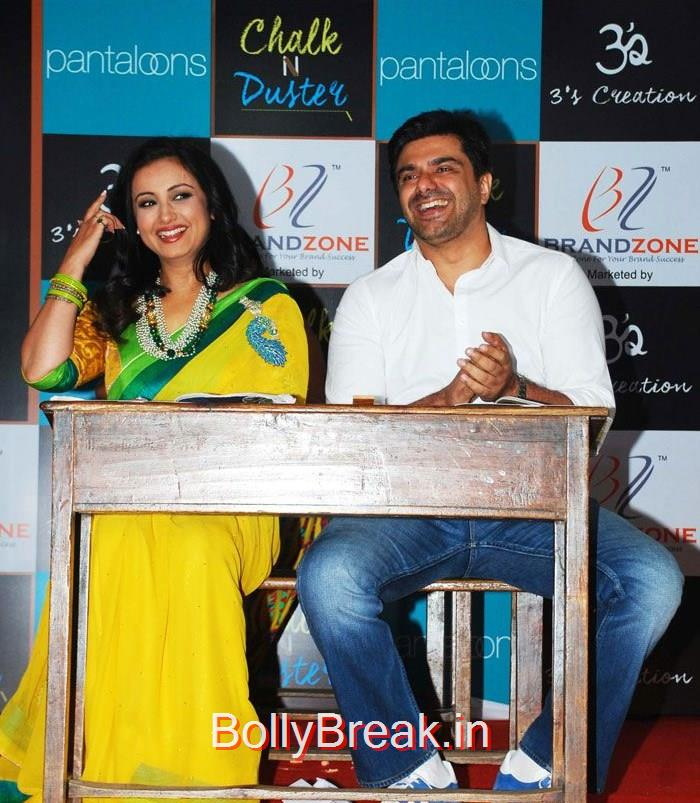 Divya Dutta, Sameer Soni, Hot HD Images of Juhi Chawla Upsasana Singh at 'Chalk N Duster' Mahurat