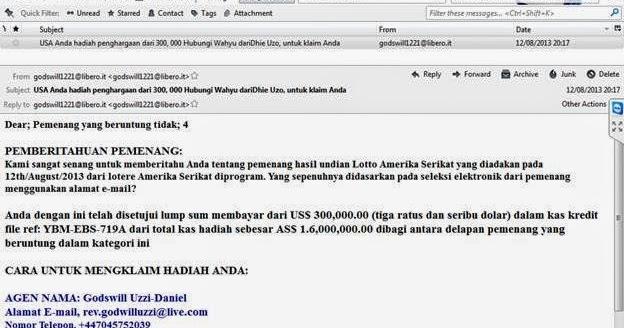 Contoh Email Yahoo Dalam Bahasa Inggris - Contoh 408