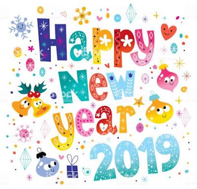 Gambar Ucapan Selamat Tahun Baru 2019 Kartun Happy New Year