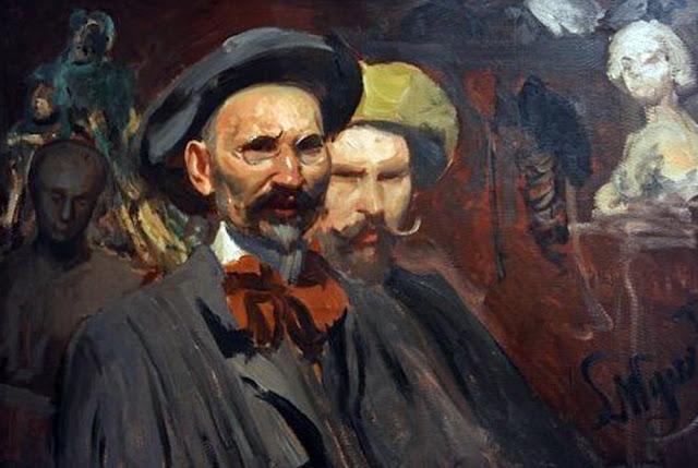 Leon Wyczółkowski, Self Portrait, Portraits of Painters, Fine arts, Portraits of painters blog, Paintings of Leon Wyczółkowski, Painter Leon Wyczółkowski