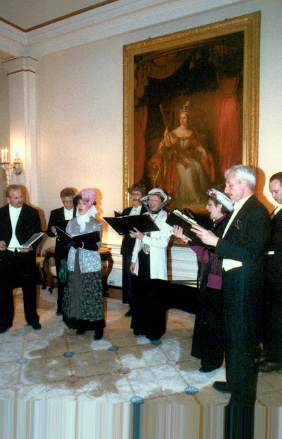 Singing in one of the many portrait galleries at Rideau Hall