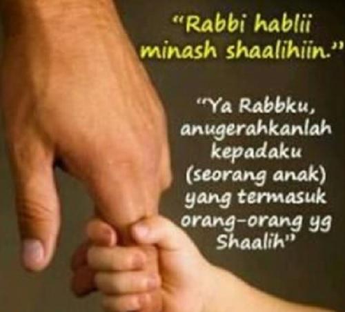 Rabbi habli minash sholihin artinya