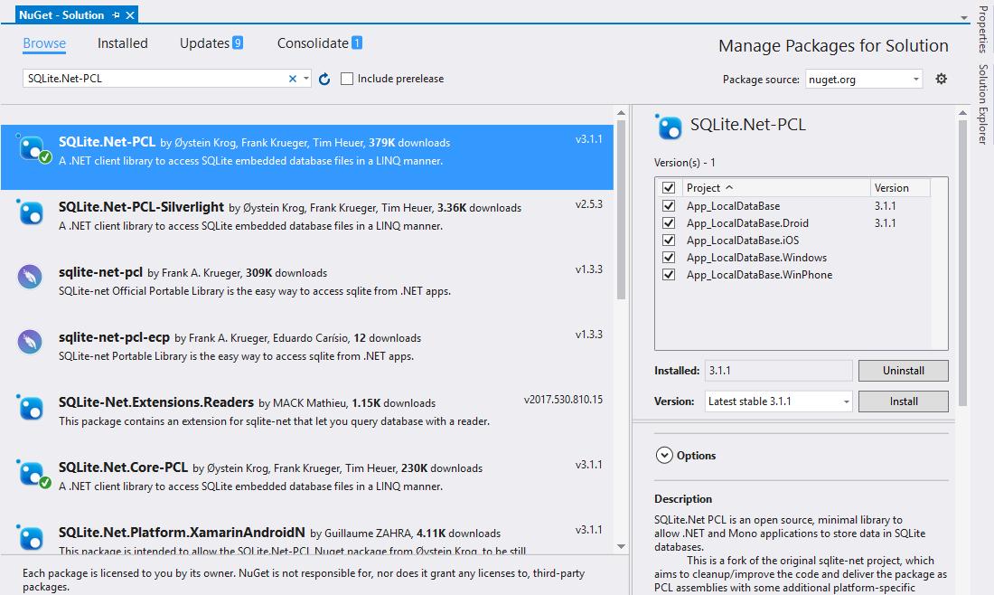 Anro Rathod - Microsoft Net Consultant: Xamarin : SQLite Local Database