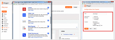 Cara Menambahkan Widget Popular Post Pada Blog
