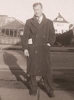 Donald C. Olsen in his dress coat
