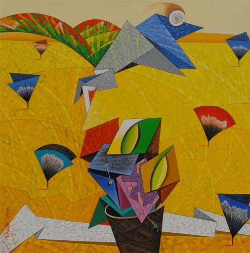 """4th – 15th Mar. 2019: Pradarshak presents ""Flight of Imagination"" Acrylic on Canvas Paintings by Pradip Sarkar"""